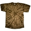 Tie Dye T-shirt Spider Brown Retro Vintage Groovy Adult Tee Shirt