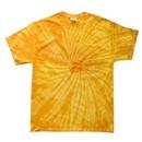 Tie Dye T-shirt Spider Gold Retro Vintage Groovy Adult Tee Shirt
