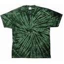 Tie Dye T-shirt Spider Green Retro Vintage Groovy Adult Tee Shirt