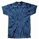 Tie Dye T-shirt Spider Navy Retro Vintage Groovy Blue Adult Tee Shirt