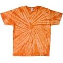 Tie Dye T-shirt Spider Orange Retro Vintage Groovy Adult Tee Shirt