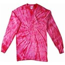 Tie Dye Long Sleeve Shirt Spider Pink Tee