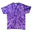 Tie Dye T-shirt Spider Purple Retro Vintage Groovy Adult Tee Shirt
