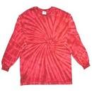 Tie Dye Long Sleeve Shirt Spider Red Tee Shirt