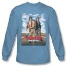Tommy Boy Shirt Movie Poster Long Sleeve Carolina Blue Tee T-Shirt