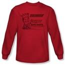 Tommy Boy Shirt Zalinsky Auto Long Sleeve Red Tee T-Shirt