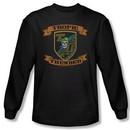 Tropic Thunder Shirt Patch Long Sleeve Black Tee T-Shirt