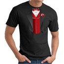 Tuxedo T-Shirt With Red Vest Black Tee