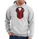 Tuxedo Hoodie Hoody Sweatshirt With Red Vest