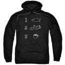 Twin Peaks Hoodie Coffee Log Fish Black Sweatshirt Hoody