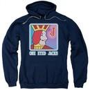 Twin Peaks Hoodie One Eyed Jacks Navy Blue Sweatshirt Hoody