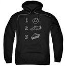 Twin Peaks Hoodie Pie Log Donut Black Sweatshirt Hoody