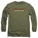 Twin Peaks Long Sleeve Shirt Population Military Green Tee T-Shirt
