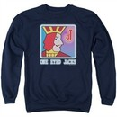 Twin Peaks Sweatshirt One Eyed Jacks Adult Navy Blue Sweat Shirt