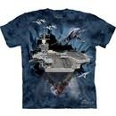 U.S. Navy Aircraft Carrier Shirt Tie Dye Adult T-Shirt Tee