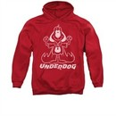 Underdog Hoodie Sweatshirt Outline Under Red Adult Hoody Sweat Shirt
