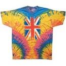Union Jack Tie Dye Shirt Woodstock T-Shirt