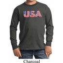 USA 3D Kids Long Sleeve Shirt