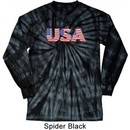 USA 3D Long Sleeve Tie Dye Shirt