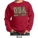 USA Home of the Brave Kids Sweatshirt