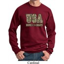 USA Home of the Brave Sweatshirt