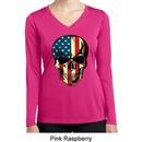 USA Skull Ladies Dry Wicking Long Sleeve Shirt