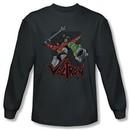 Voltron Shirt Roar Long Sleeve Charcoal Tee T-Shirt