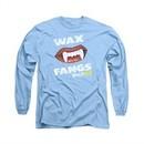 Wack O Wax Shirt Fangs Long Sleeve Carolina Blue Tee T-Shirt