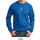Mens Yoga Sweatshirt ? Warrior 2 Pose Meditation Adult Sweat Shirt