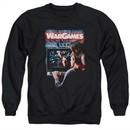 WarGames  Sweatshirt Movie Poster Adult Black Sweat Shirt
