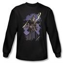 Watchmen Long Sleeve T-shirt Movie Rorschach Night Black Shirt