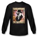 Watchmen Long Sleeve T-shirt Movie Superhero Who Watches Black Shirt