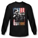 Watchmen Long Sleeve T-shirt Movie The Comedian Wants You Black Shirt