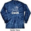White Penguin Power Swim Long Sleeve Tie Dye T-shirt