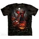 Wicked Halloween Fairy  Shirt Tie Dye Adult T-Shirt Tee