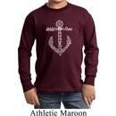 Wild and Free Anchor Kids Long Sleeve Shirt