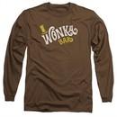 Willy Wonka and The Chocolate Factory  Long Sleeve Shirt Logo Coffee Tee T-Shirt