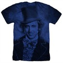 Willy Wonka and The Chocolate Factory Shirt Gene Wilder Heather Royal Blue T-Shirt