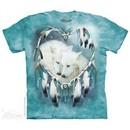 Wolf Heart Shirt Tie Dye Adult T-Shirt Tee