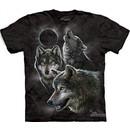 Wolf Shirt Tie Dye Moon Eclipse Wolves T-shirt Adult Tee