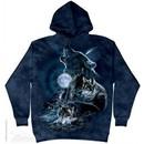 Wolves At Midnight Hoodie Tie Dye Adult Hooded Sweat Shirt Hoody