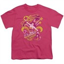 Wonder Woman Kids Shirt Save Me Hot Pink T-Shirt