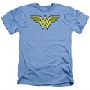 Wonder Woman Shirt Logo Heather Light Blue T-Shirt