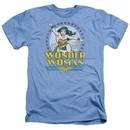 Wonder Woman Shirt Stars Heather Light Blue T-Shirt