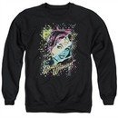 Wonder Woman Sweatshirt Color Block Adult Black Sweat Shirt