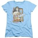 Wonder Woman Womens Shirt Invisible Jet Light Blue T-Shirt