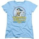 Wonder Woman Womens Shirt Stars Light Blue T-Shirt