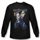 X-Files Shirt X Agents Long Sleeve Black Tee T-Shirt