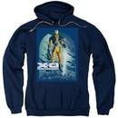 X-O Manowar Hoodie Decapitated Navy Sweatshirt Hoody