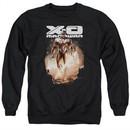 X-O Manowar Sweatshirt Lightning Sword Adult Black Sweat Shirt